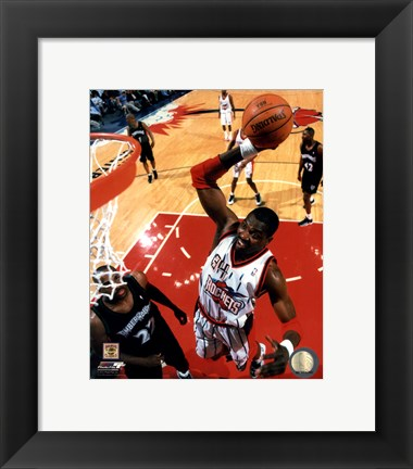Framed Hakeem Olajuwon 1999 Action Print