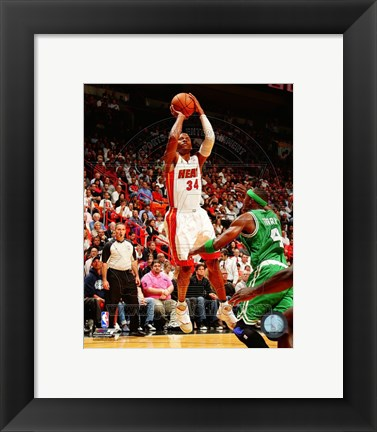 Framed Ray Allen 2012-13 Action Print