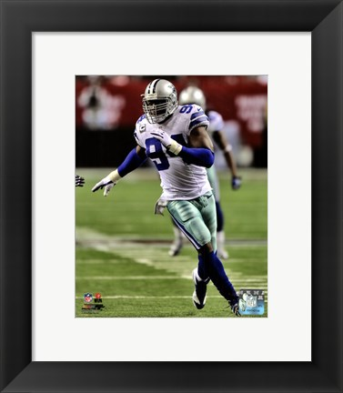 Framed DeMarcus Ware 2012 Running Action Print