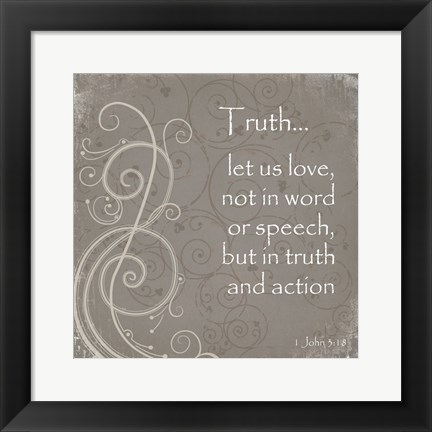 Framed Truth Quote Print