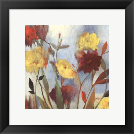 Framed Wildflowers I - mini Print