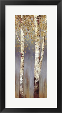 Framed Butterscotch Birch Trees II - MINI Print