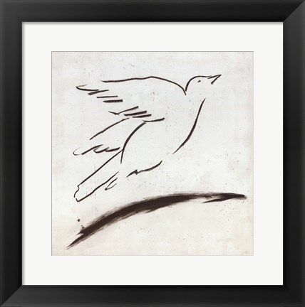 Framed Bird II Print
