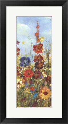 Framed Meadow Florals I - Field Print