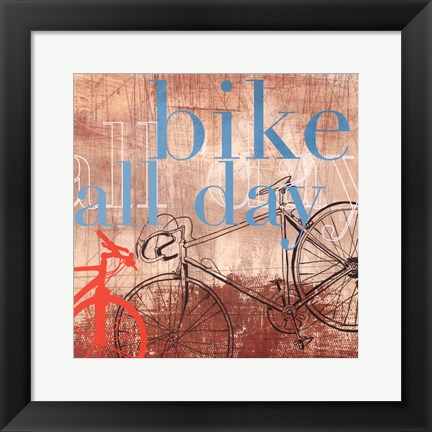 Framed Bike all Day - Mini Print