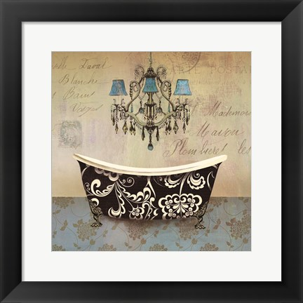 Framed French Vintage Bath II - Mini Print