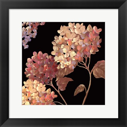 Framed Velvet Hydrangeas I - Mini Print