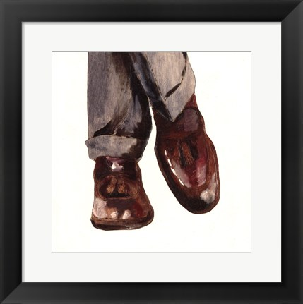 Framed Businessman Print