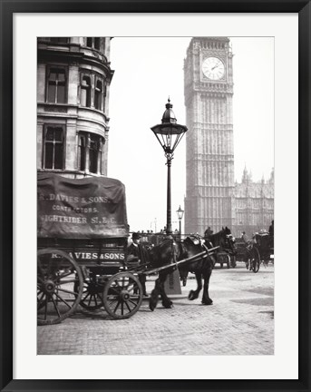 Framed Big Ben, London, c 1900s Print