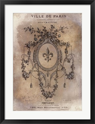 Framed Ville de Paris Print