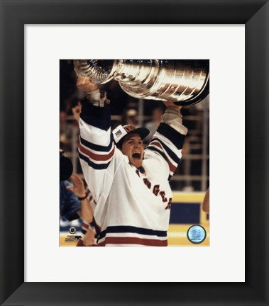 Framed Mike Richter - '93/'94 with cup Print