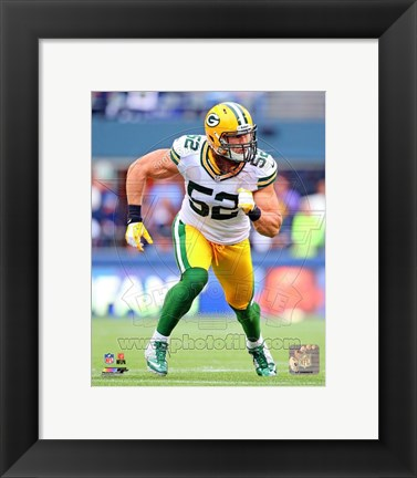 Framed Clay Matthews 2012 Action Print