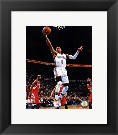Framed Basketball - Russell Westbrook 2012-13 Action Print