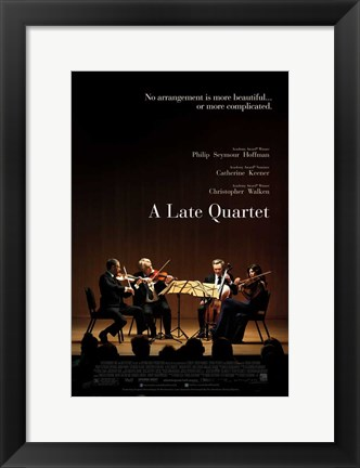 Framed Late Quartet Print