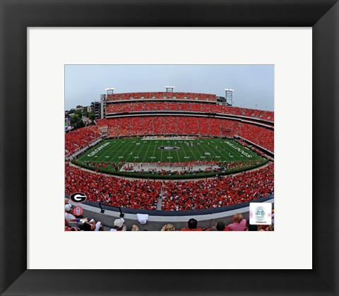 Framed Sanford Stadium Univserity of Georgia Bulldogs 2012 Print