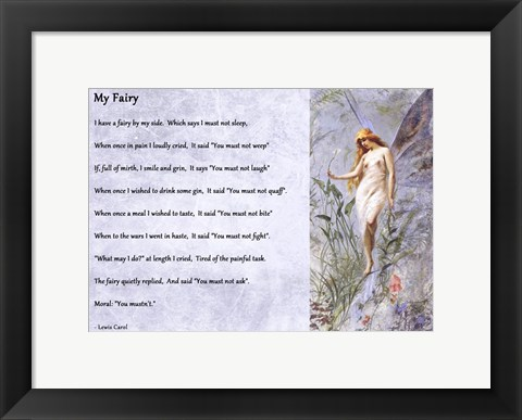 Framed My Fairy by Lewis Carroll - horizontal Print