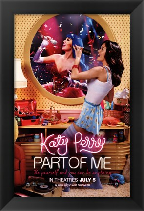 Framed Katy Perry: Part of Me 3D Print