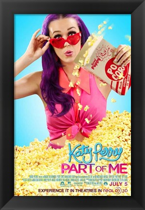 Framed Katy Perry: Part of Me 3D - popcorn Print