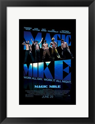 Framed Magic Mike Print