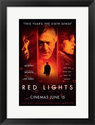 Framed Red Lights Print