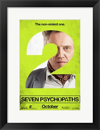 Framed Seven Psychopaths A Print