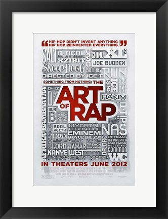 Framed Something from Nothing: The Art of Rap Print