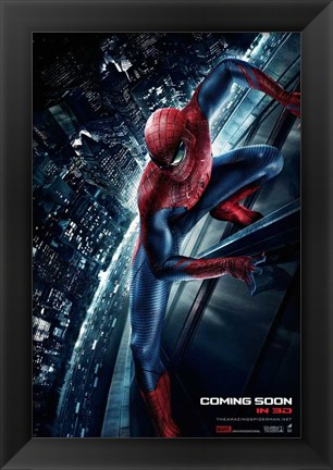 Framed Amazing Spider-Man (on a building) Print