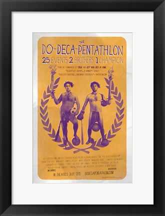 Framed Do-Deca-Pentathlon Print