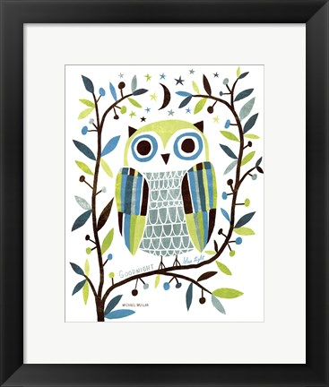 Framed Night Owl II Print
