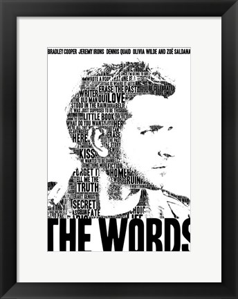 Framed Words Print