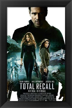 Framed Total Recall Colin Farrell Print