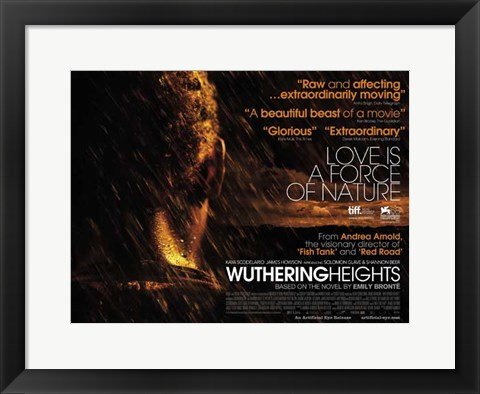 Framed Wuthering Heights - Love is a force of nature Print