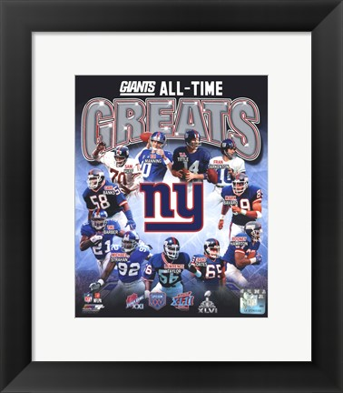 Framed New York Giants All-Time Greats Composite Print