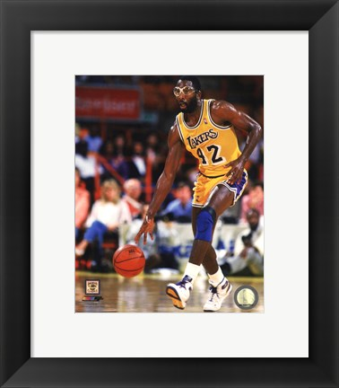 Framed James Worthy 1987 Action Print