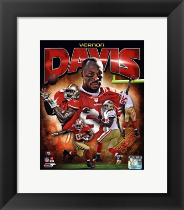 Framed Vernon Davis 2012 Portrait Plus Print