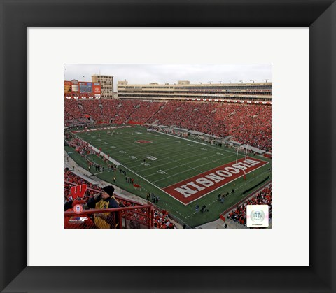 Framed Camp Randall Stadium University of Wisconsin Badgers 2012 Print