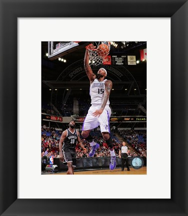Framed DeMarcus Cousins 2012-13 Action Print