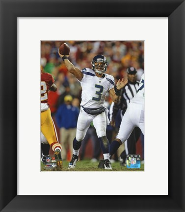 Framed Russell Wilson 2012 Playoff Action Print