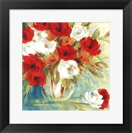 Framed Vibrant Bouquet I Print