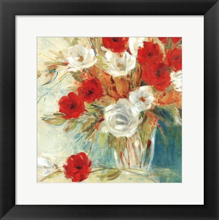 Framed Vibrant Bouquet II Print