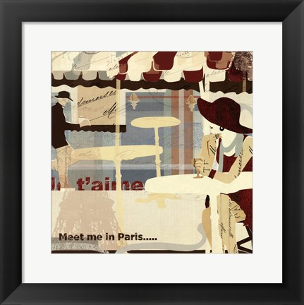 Framed Meet me in Paris Print