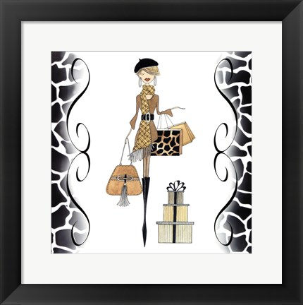 Framed Sleek & Chic Beret Gal Print