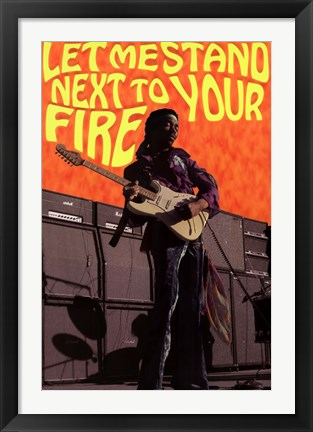 Framed Jimi Hendrix - Next to Your Fi Print