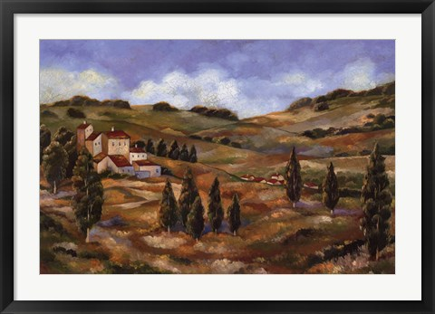 Framed CHIANTI AFTERNOON I Print