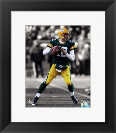 Framed Aaron Rodgers 2012 Spotlight Action Print
