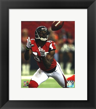 Framed Roddy White 2012 NFC Divisional Playoff Action Print