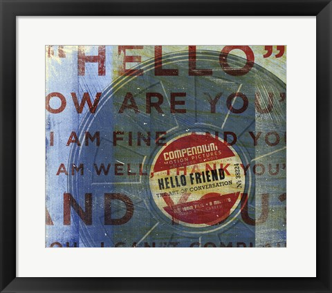 Framed Hello Friend Print