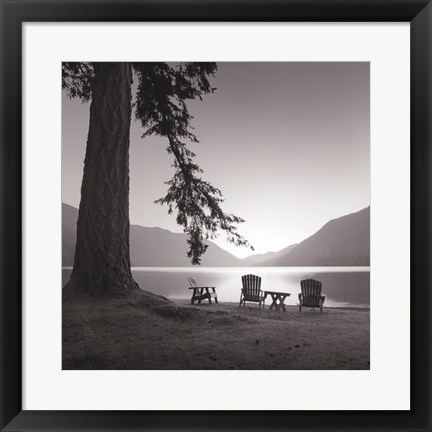 Framed Crescent Lake I Print