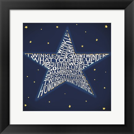Framed Twinkle, Twinkle Little Star Print