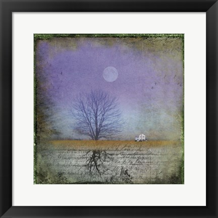 Framed Moonlight in Vermont Print